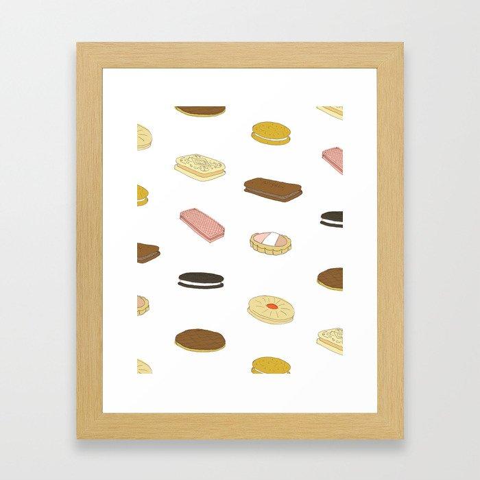 biscui - biscuit pattern Framed Art Print
