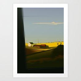 Trainblur2 Art Print