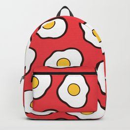 Fried Eggs Pattern Backpack