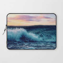 Waves Crashing At Sunset Laptop Sleeve