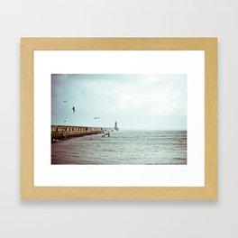 Sunny Pier Framed Art Print