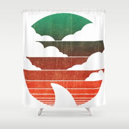 I Wait All Year For This Week Shirts Funny Shark Tee Shower Curtain
