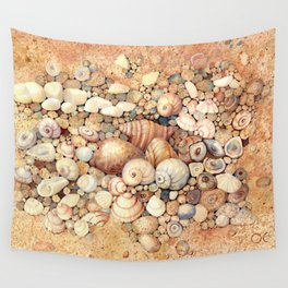 Shells on Sand Wall Tapestry