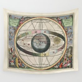 Harmonia Macrocosmica Map - Plate 02 Wall Tapestry