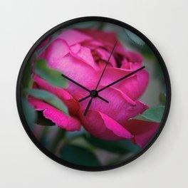 Romantic Pink (Magenta) Rose - Symbol of Love Wall Clock
