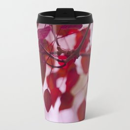 Red Leaves Travel Mug