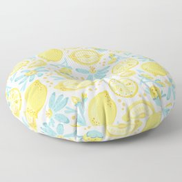 Lemon pattern White Floor Pillow
