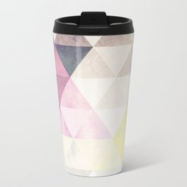 Geometric Groove Metal Travel Mug