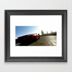 Aventador In Prague Framed Art Print