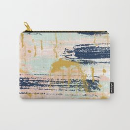 Blush, Gold, Navy, White, Mint Abstract  Carry-All Pouch