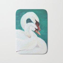 Swans Love Bath Mat