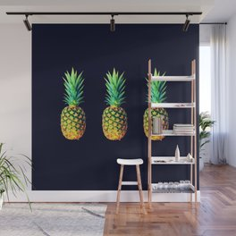 Night Knights Pineapples Wall Mural
