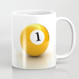 yellow pool billiard ball number 1 one Coffee Mug
