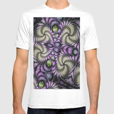 Abstract 126 (MAD PAT) Mens Fitted Tee MEDIUM White