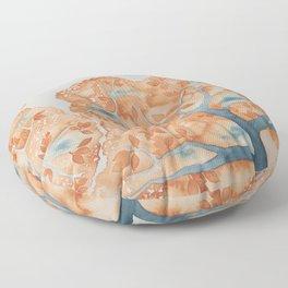 Tree Canopy in Oranges Floor Pillow