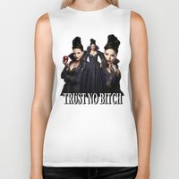 regina mills Biker Tanks featuring TRUST NO BITCH - Regina by j0seph