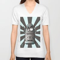the fault V-neck T-shirts featuring Fault 45 03 (its not his fault) by Face Leakage