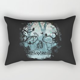 Dark Forest Skull Rectangular Pillow