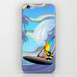 Windsurfer on Ocean Waves iPhone Skin
