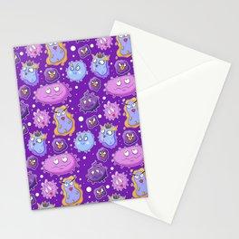 Cute Cartoon Viruses Stationery Cards