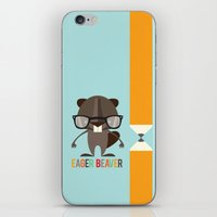 beaver iPhone & iPod Skins featuring Eager Beaver by Steph Dillon