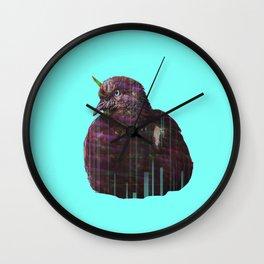 Disco pigeon unicorn Wall Clock