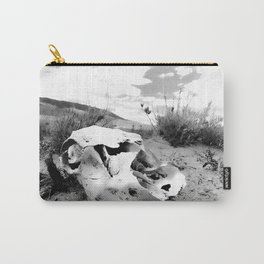Desert Skull in Black and White Photography Carry-All Pouch