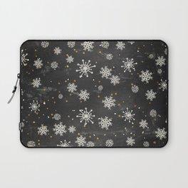 Boho Black Snowflakes Laptop Sleeve