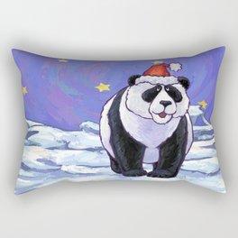 Panda Bear Christmas Rectangular Pillow