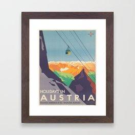 Vintage poster - Austria Framed Art Print