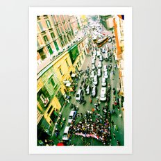 Protest In Naples Art Print