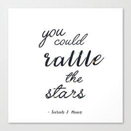 Rattle The Stars - White Canvas Print