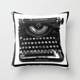 Kerouac's Type Throw Pillow