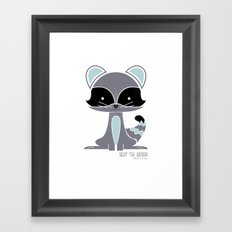 Riley the Racoon Framed Art Print