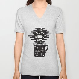 For the love of coffee Unisex V-Neck