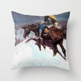 The Vidette-Custer Trooper - William Herbert Dunton Throw Pillow