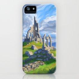 Hilltop Ruin iPhone Case