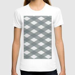 PPG Night Watch Pewter Green Argyle, Plaid Diamond Pattern T-shirt