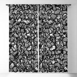 Two Tone Wobble Tiles Pattern Blackout Curtain