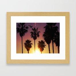 Venice Purple Sky Framed Art Print