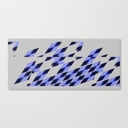 Blue Vibrate Plaid Canvas Print