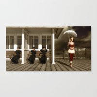 scandal Canvas Prints featuring The victorian scandal by Britta Glodde