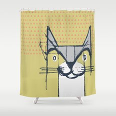 Cubist Cat Study #6 by Friztin Shower Curtain