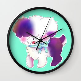 The Curious Sheepdog Wall Clock