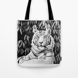 Endangered White Tiger Tote Bag
