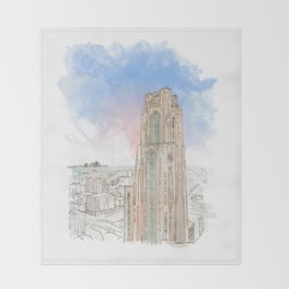 Cathedral of Learning Throw Blanket