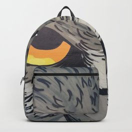 Eagle owl art owl bird drawing Backpack