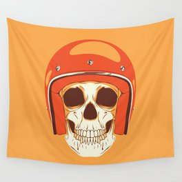 Helmet Skull Wall Tapestry