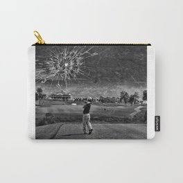 Broken Glass Sky - Black and White Version Carry-All Pouch