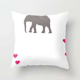 Animal Quotes Save the Elephants Throw Pillow